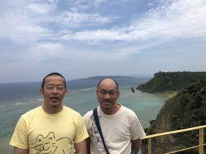 申立人の森田誠二さんと田中聡さんの写真